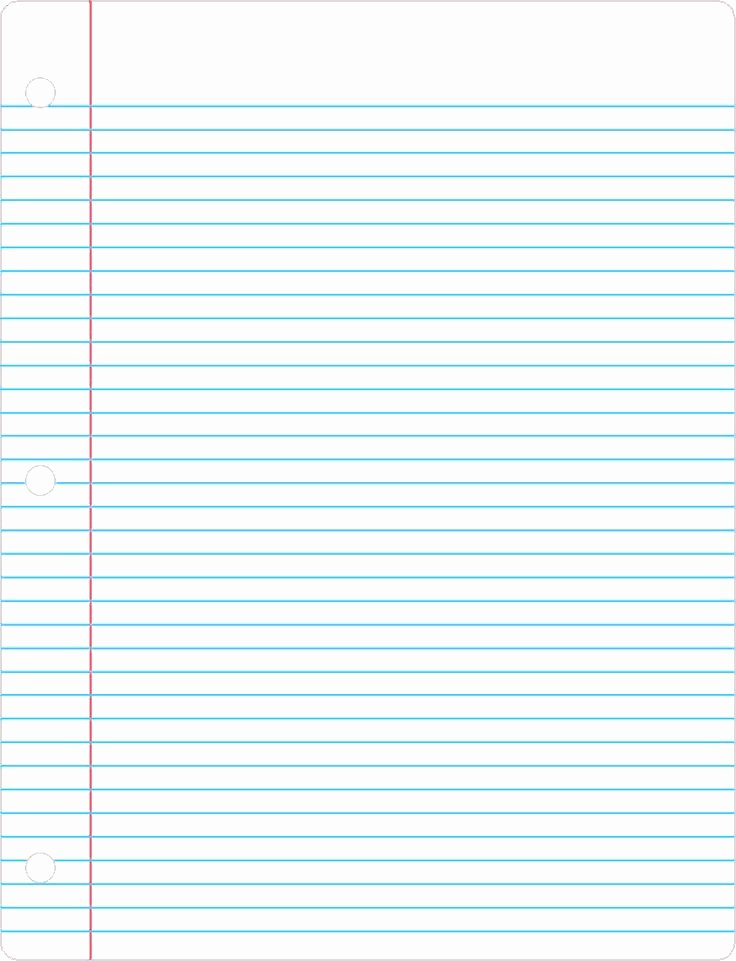 Printable Notebook Paper Wide Ruled Fresh Printable Lined Paper