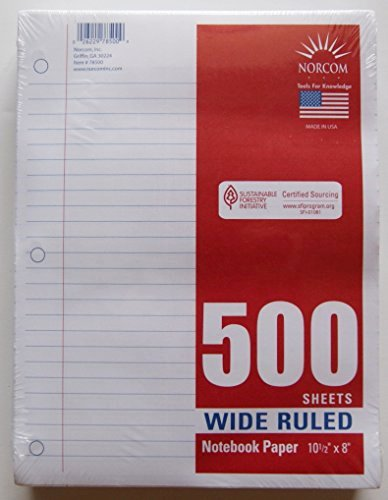 Printable Notebook Paper Wide Ruled Fresh Wide Ruled Notebook Paper 500 Sheets