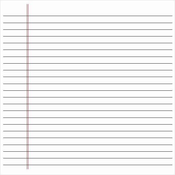 Printable Notebook Paper Wide Ruled Lovely 7 Best Of Notebook Paper Printable Pdf Wide Ruled