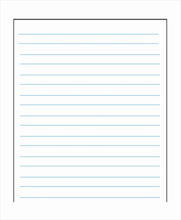 Printable Notebook Paper Wide Ruled New Wide Lined Paper to Print Printable Lined Paper Wide Ruled