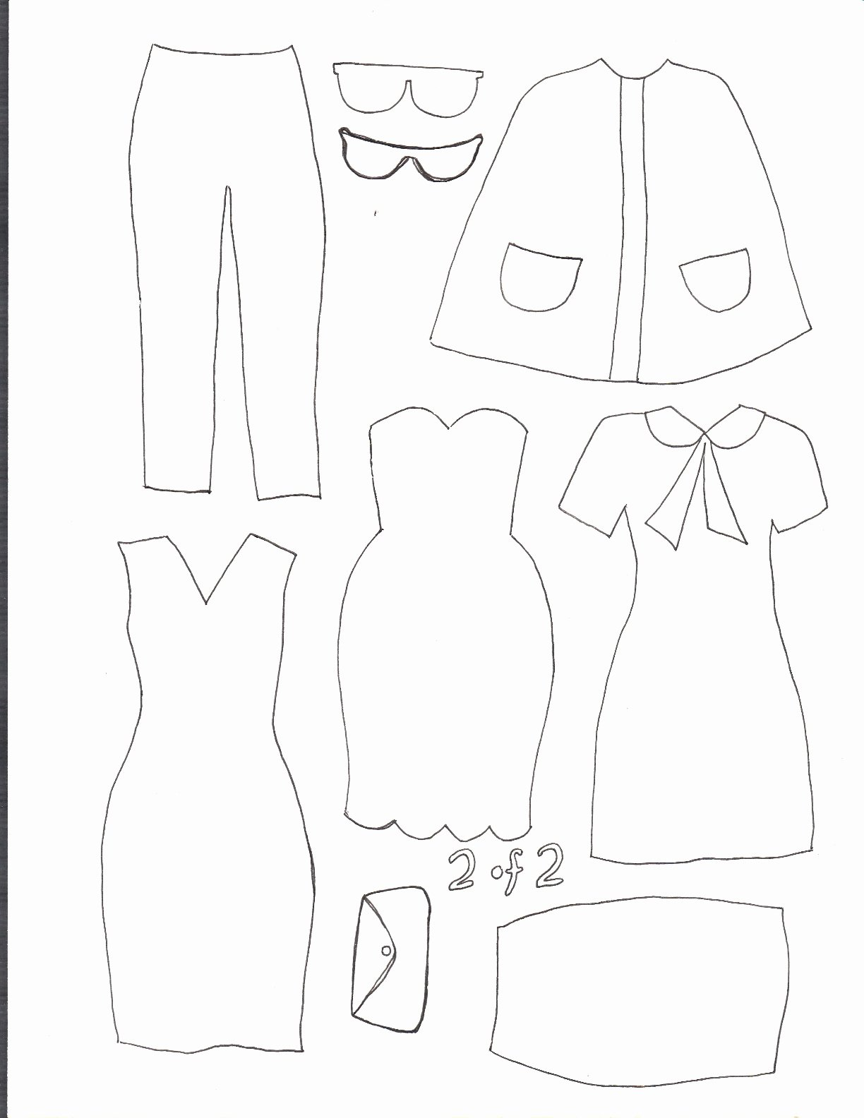 Printable Paper Doll Templates Beautiful Smile and Wave Dress Up Felt Board Tutorial and Template