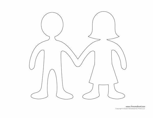Printable Paper Doll Templates Fresh Best 25 Paper Doll Chain Ideas On Pinterest