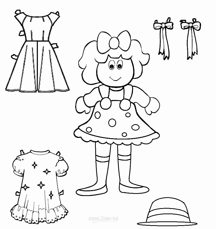 Printable Paper Doll Templates Fresh Free Printable Paper Doll Templates