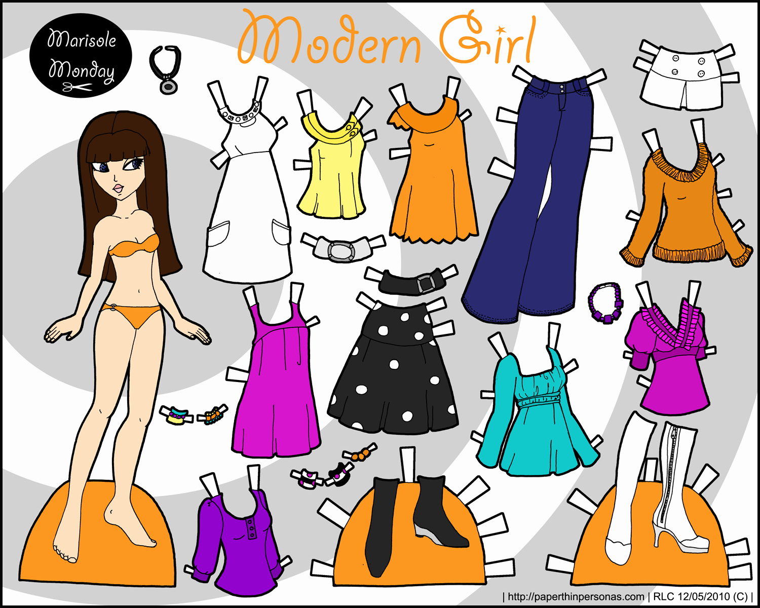 Printable Paper Doll Templates Fresh Marisole Monday Modern Girl