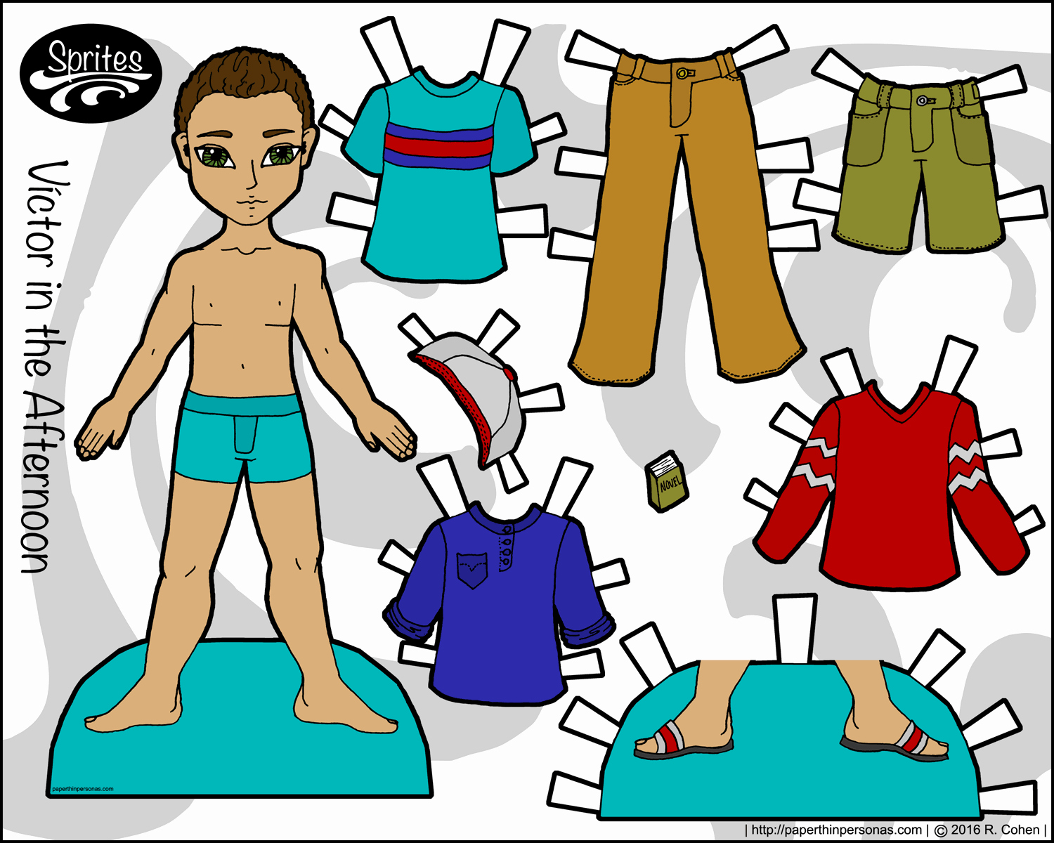 Printable Paper Doll Templates Fresh Victor In the afternoon A Boy Paper Doll