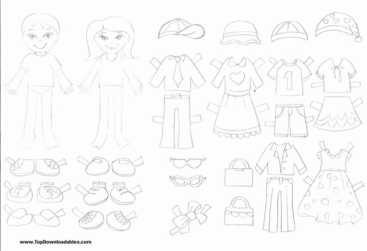 Printable Paper Doll Templates Inspirational Free Printable Paper Doll Cutout Templates for Kids and