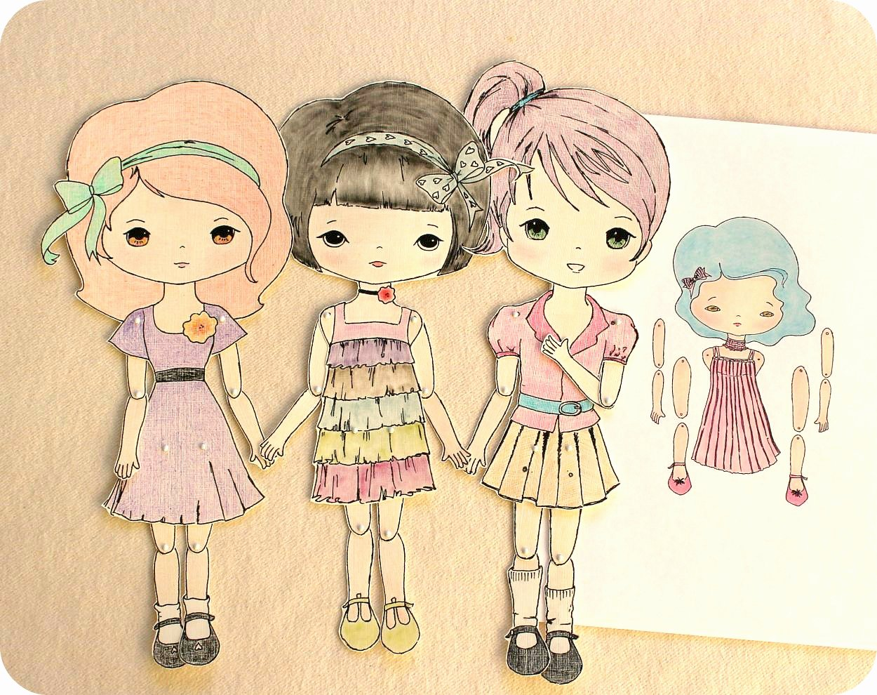 Printable Paper Doll Templates Luxury Gingermelon Dolls Free Paper Doll Download and the Mini