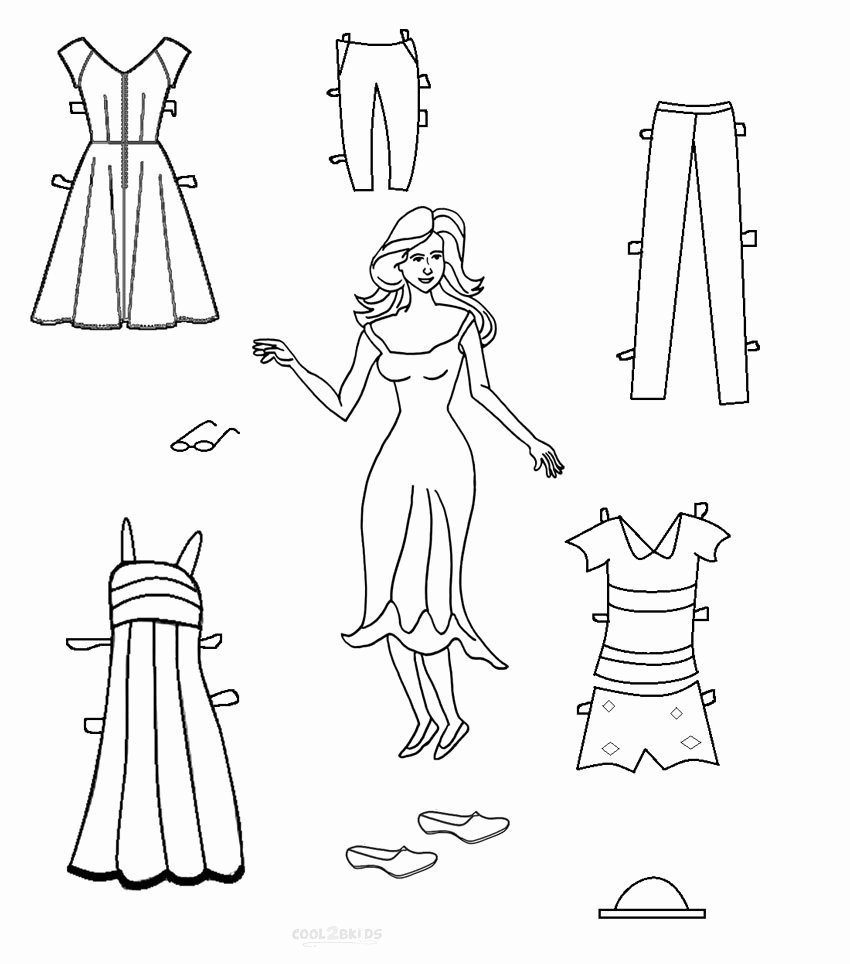 Printable Paper Doll Templates Unique Free Printable Paper Doll Templates