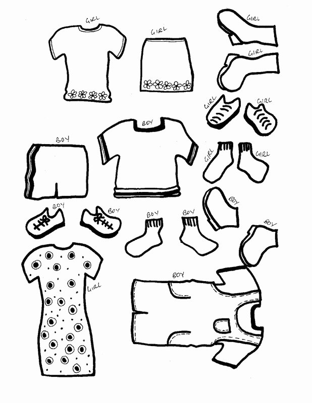Printable Paper Dolls Template Awesome Paper Dolls with Clothes