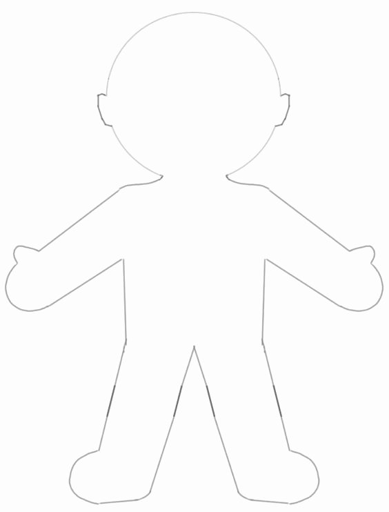 Printable Paper Dolls Template Beautiful Blank Paper Doll Template