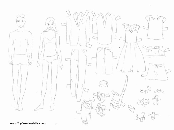 Printable Paper Dolls Template Beautiful Free Printable Paper Doll Cutout Templates for Kids and