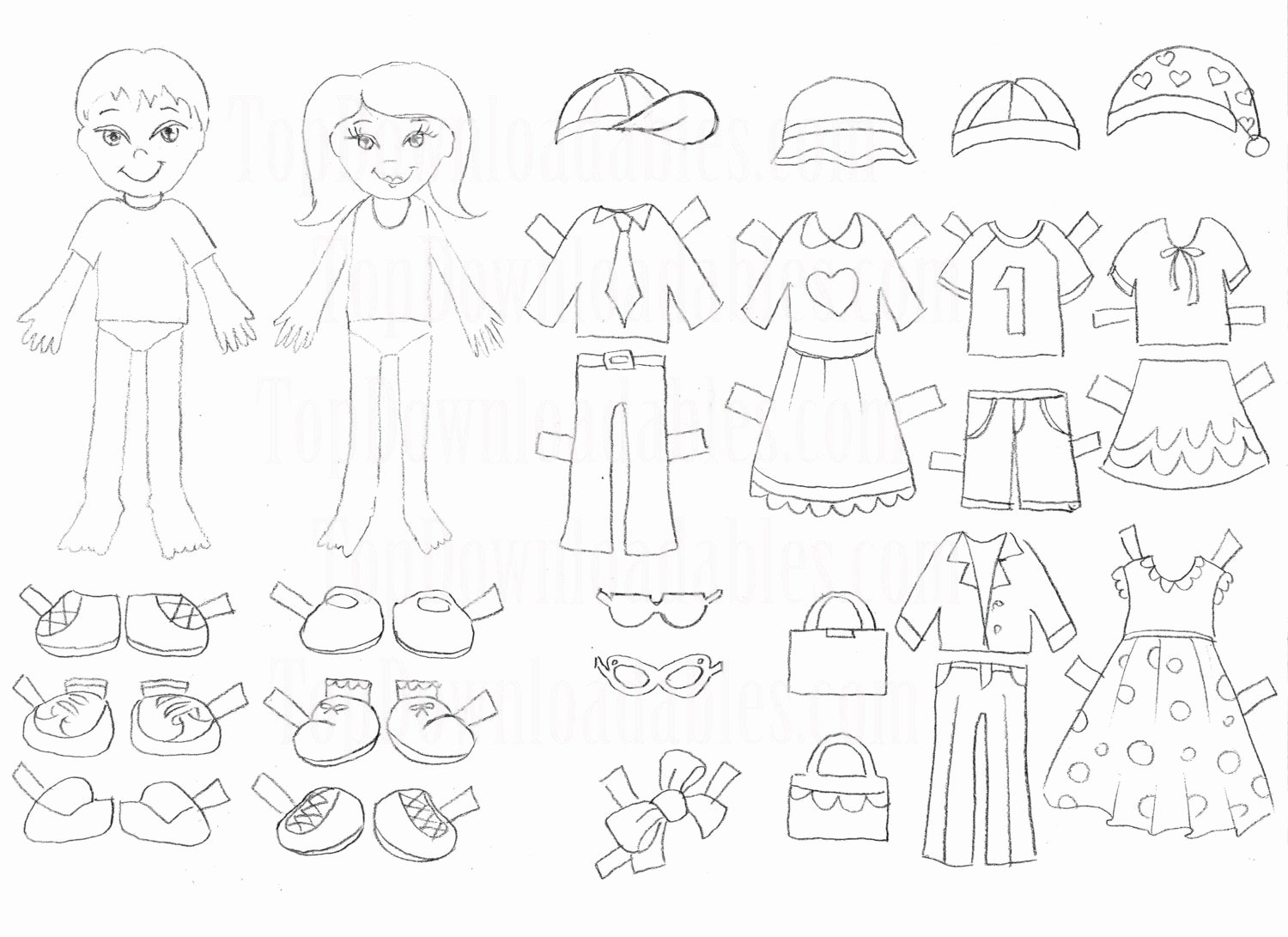 Printable Paper Dolls Template Best Of Coloring Paper Doll Kids Sheet Digital Template Printable Art