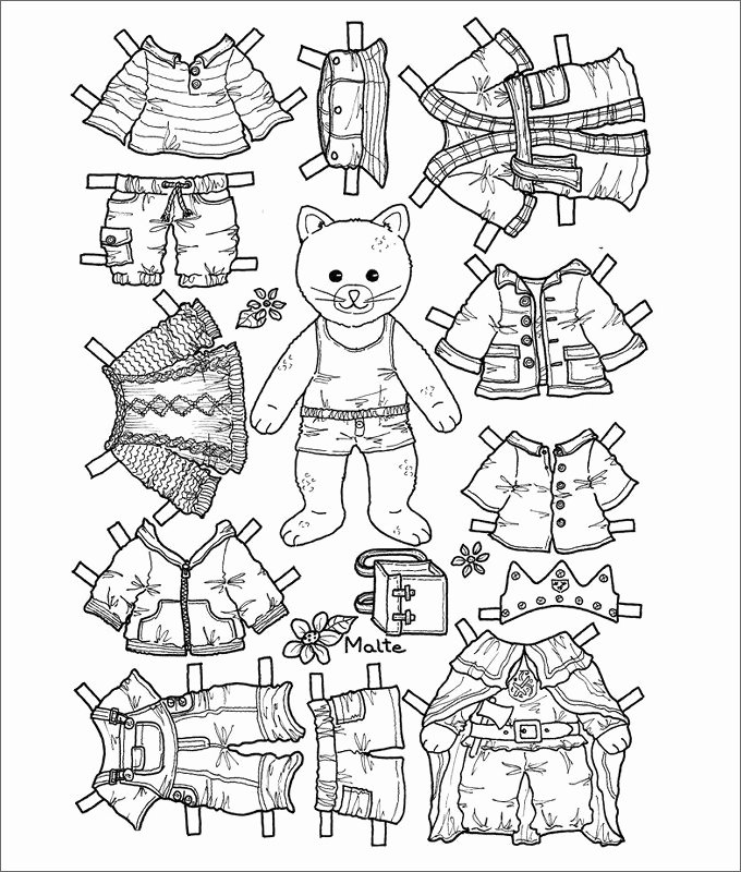Printable Paper Dolls Template Elegant Paper Dolls