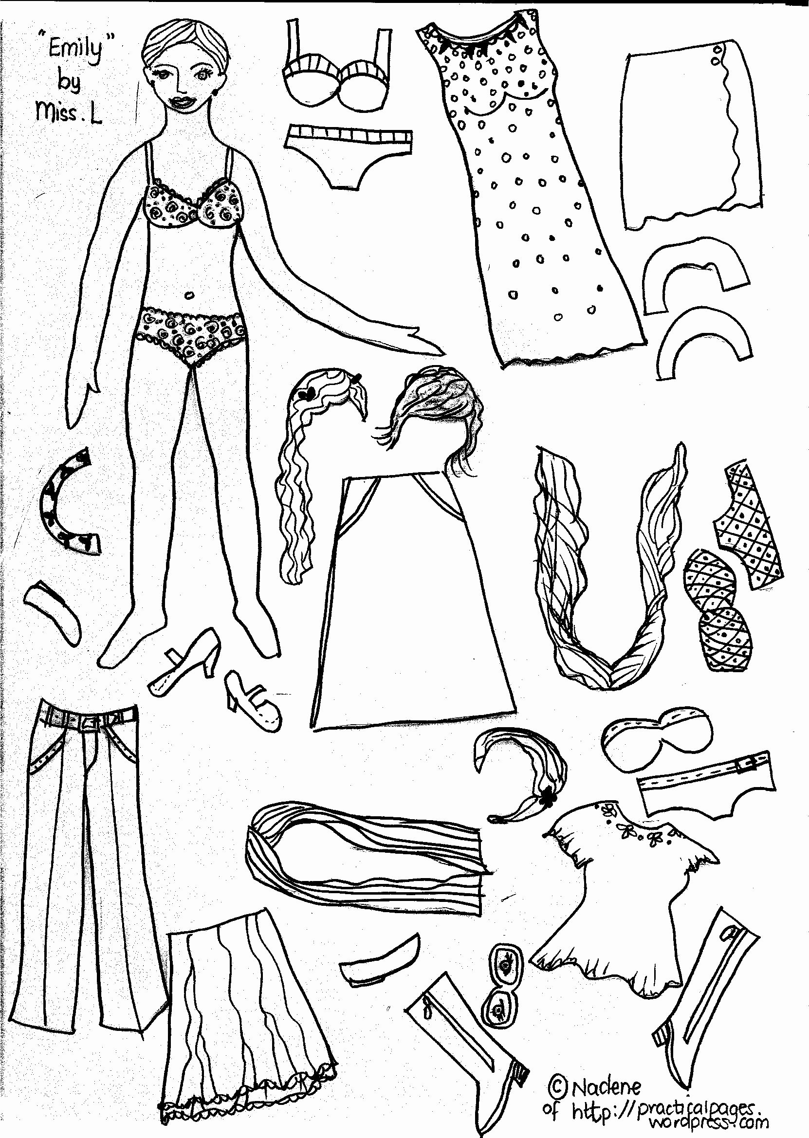 Printable Paper Dolls Template Lovely Paper Dolls