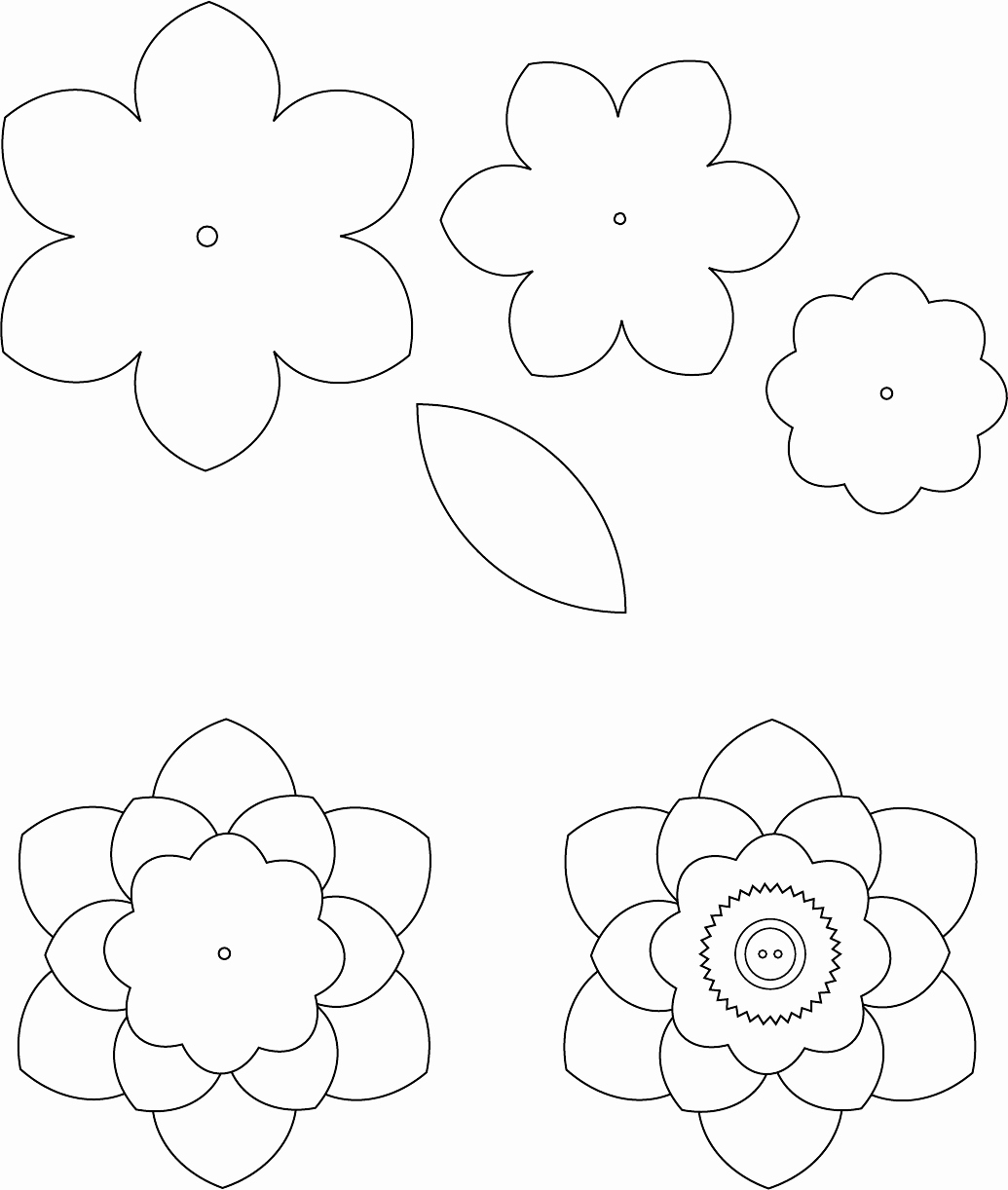Printable Paper Flower Templates Awesome Flower Template 1 трафареты цветы Pinterest