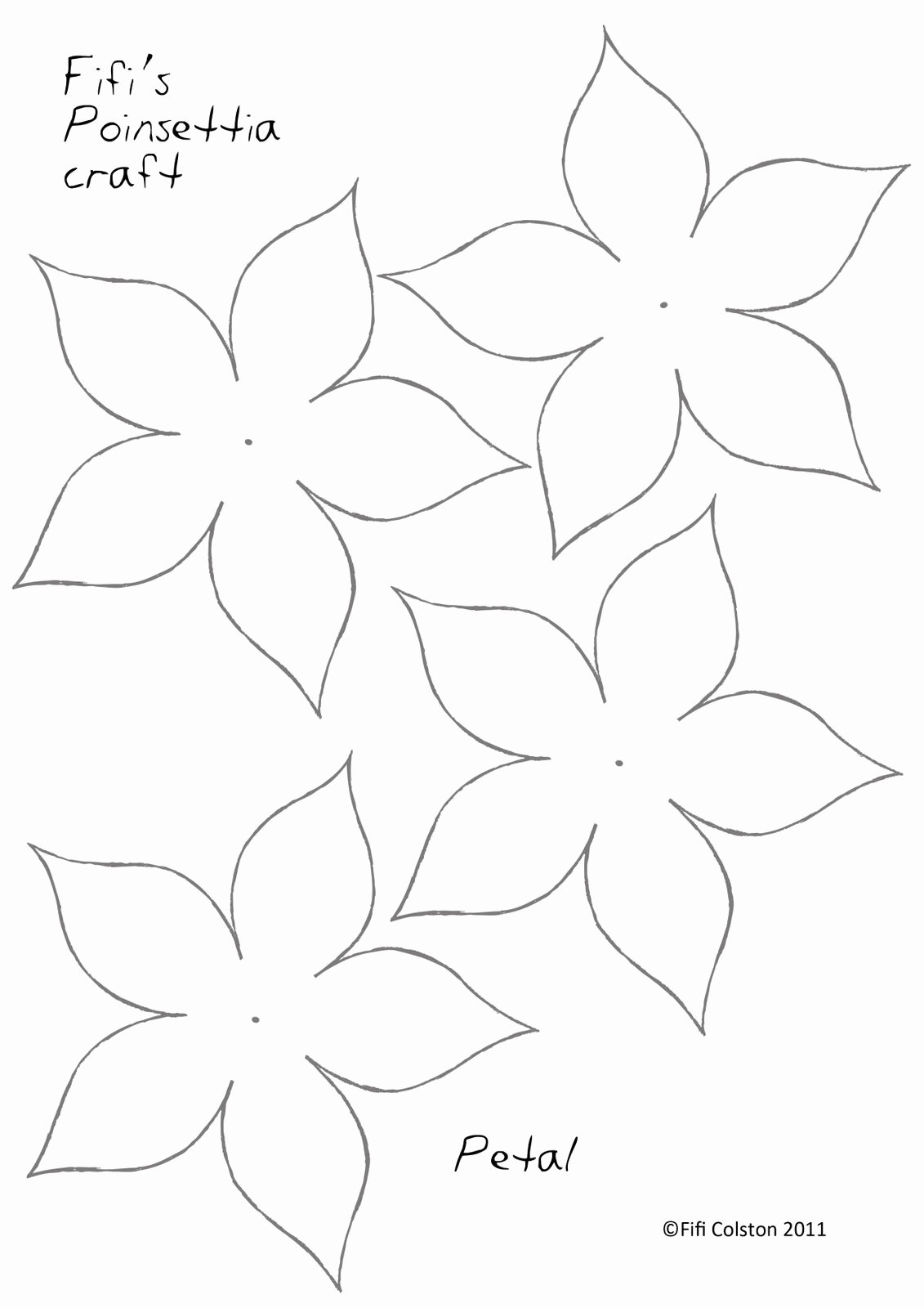 Printable Paper Flower Templates Beautiful Poinsettia Paper Flower Template … Paper Flowers