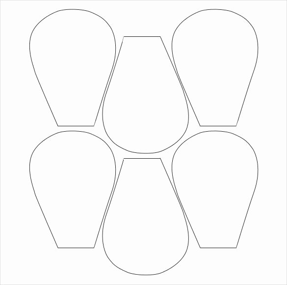 Printable Paper Flower Templates Luxury Flower Petal Template 27 Free Word Pdf Documents