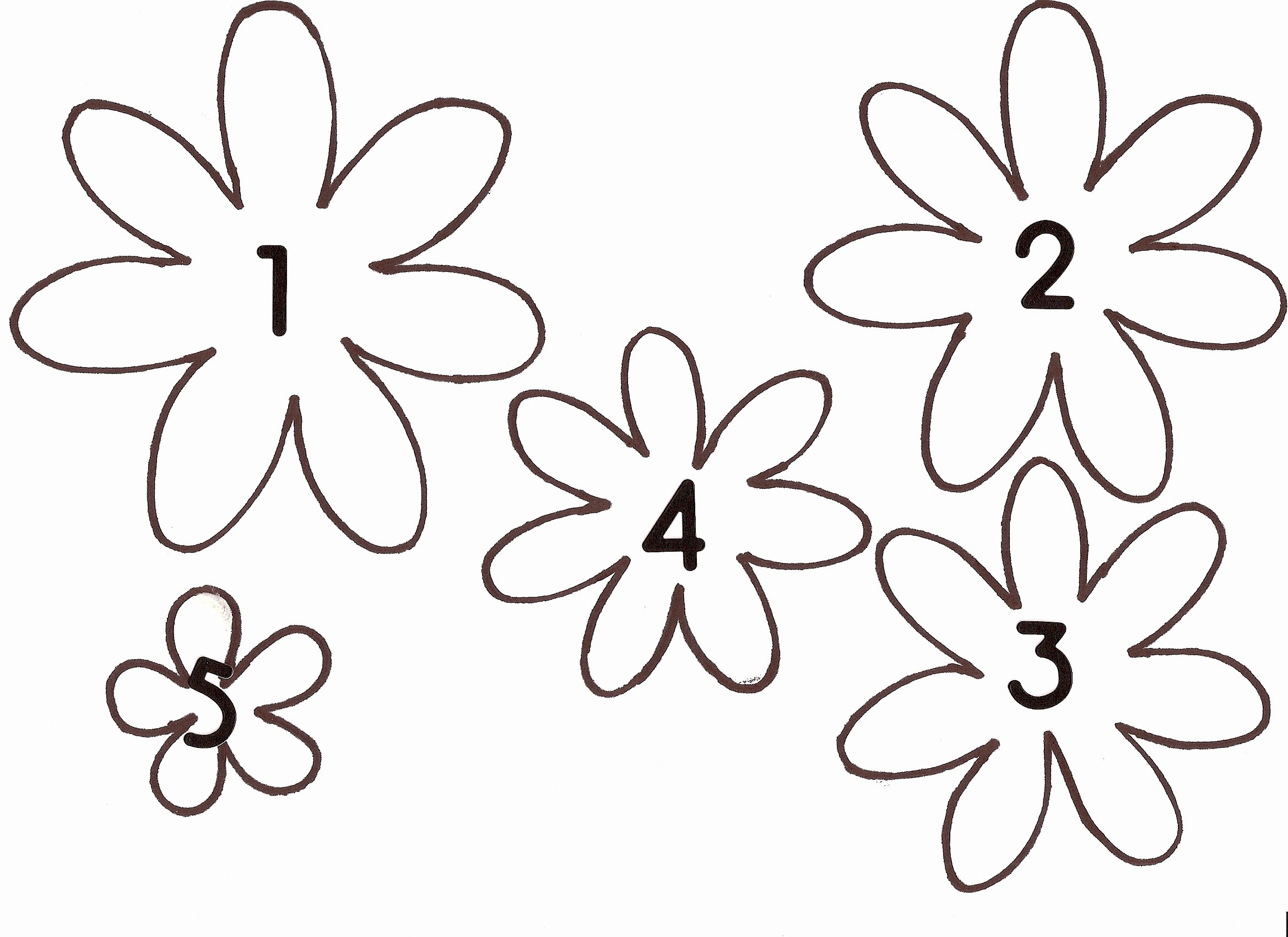 Printable Paper Flower Templates New Make A Spring Paper Wreath