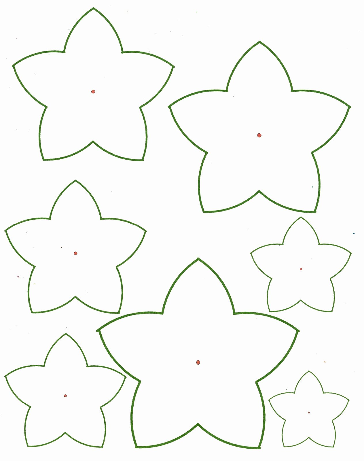 Printable Paper Flower Templates Unique Paper Flower Templates
