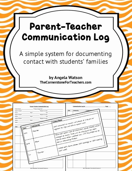 Printable Parent Contact Log Inspirational Parent Munication Grades K 5 Collection