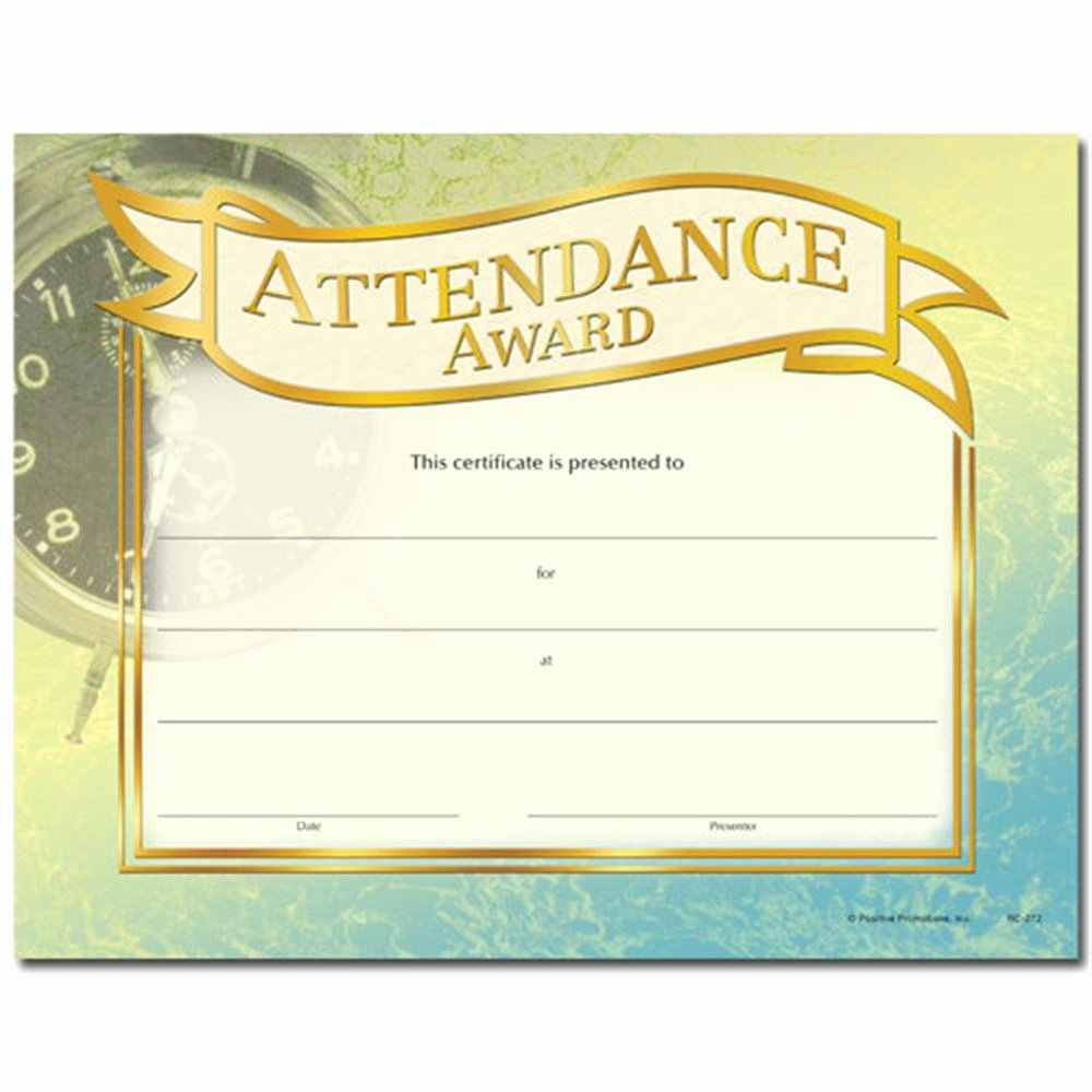 Printable Perfect attendance Award Awesome attendance Award Gold Foil Stamped Certificates