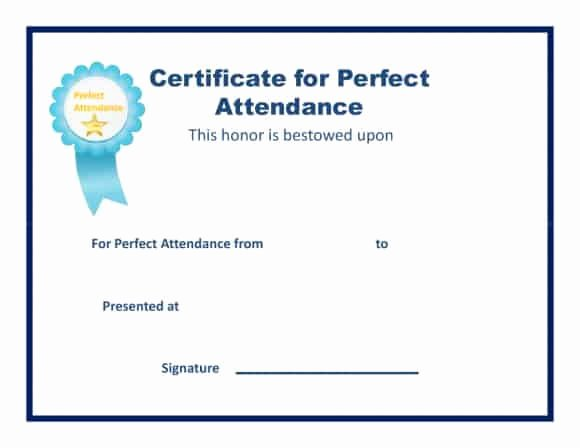 Printable Perfect attendance Award Beautiful 40 Printable Perfect attendance Award Templates & Ideas
