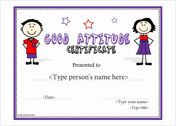 Printable Perfect attendance Award Elegant attendance Certificate Templates