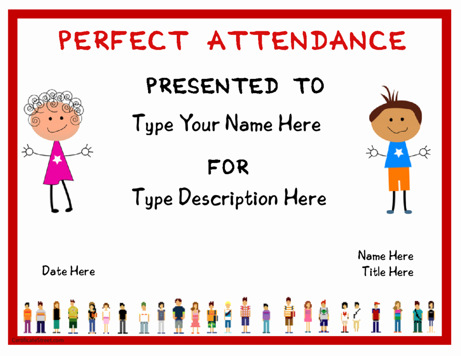 Printable Perfect attendance Award Inspirational 2019 Certificate Of attendance Fillable Printable Pdf