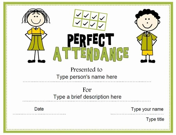 Printable Perfect attendance Certificate Beautiful 8 Best Perfect attendance Images On Pinterest