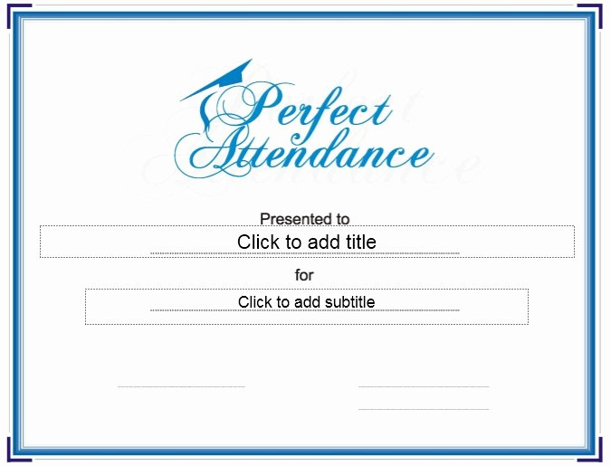 Printable Perfect attendance Certificate Best Of 13 Free Sample Perfect attendance Certificate Templates