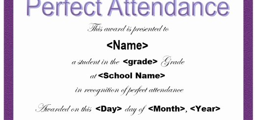 Printable Perfect attendance Certificate Inspirational 11 Free Sample Internship Certificate Templates