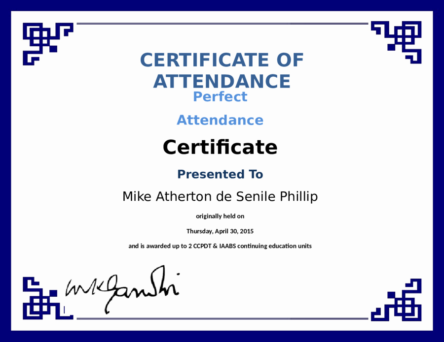 Printable Perfect attendance Certificate Luxury Printable attendance Certificates