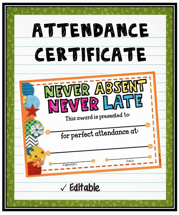 Printable Perfect attendance Certificate New 12 Best Sunday School Certificates Images On Pinterest