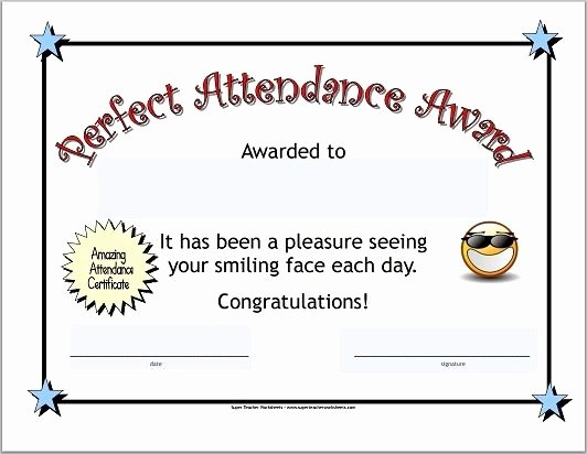 Printable Perfect attendance Certificate New Celebrate Perfect attendance In Your Class