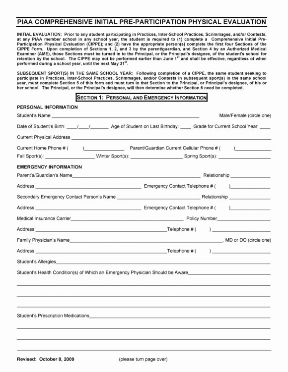 Printable Physical Exam forms New 43 Physical Exam Templates & forms [male Female]