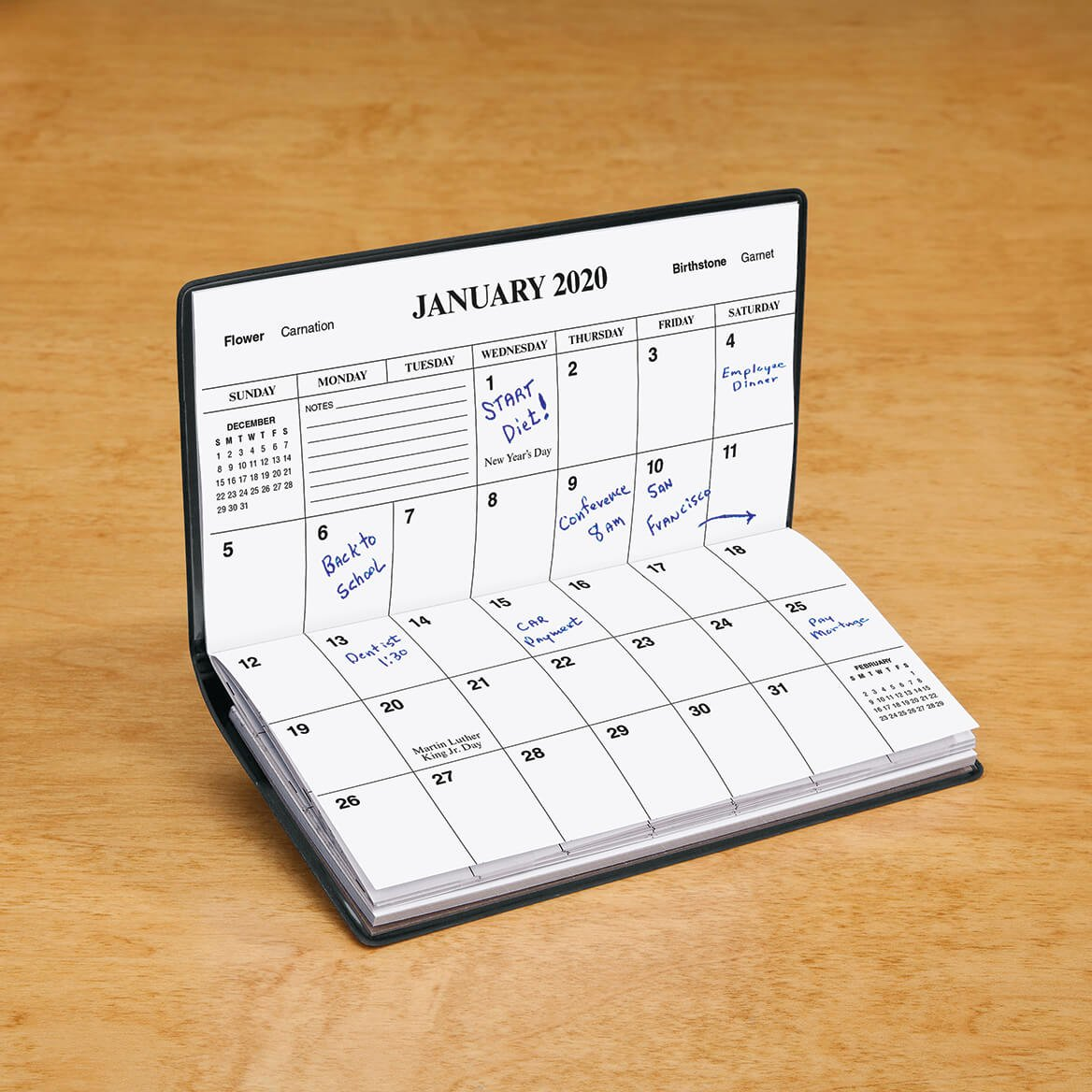 personalized 1 year pocket calendar