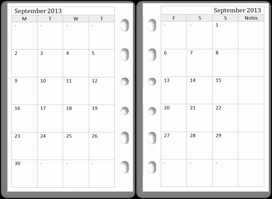 Printable Pocket Monthly Calendar Luxury Philofaxy Filofax Pocket Monthly Diaries for Free