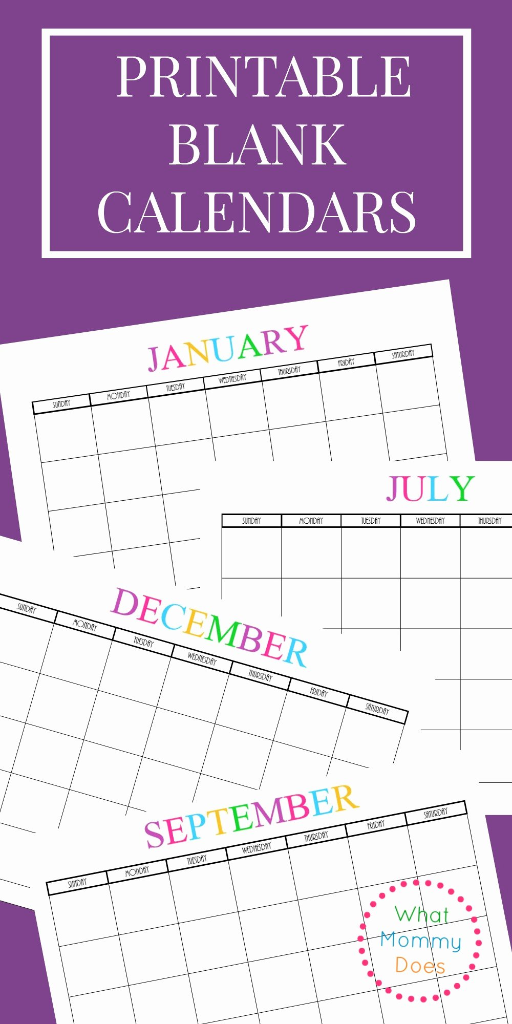 Printable Pocket Monthly Calendar New Free Printable Blank Monthly Calendars 2017 2018 2019