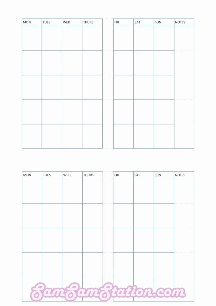 Printable Pocket Monthly Calendar Unique Free Tn Pocket Insert Month On Two Pages