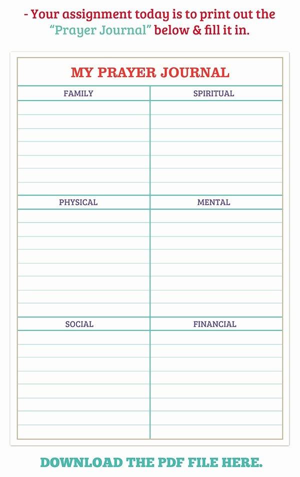 Printable Prayer List Template Elegant 21 Of Prayer Journal Template