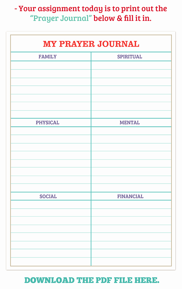 Printable Prayer List Template Fresh Journal Mommy Projects
