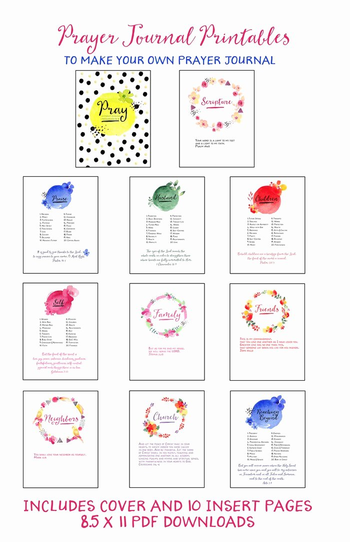 Printable Prayer List Template Lovely Free Prayer Journal Printables Homeschool Giveaways