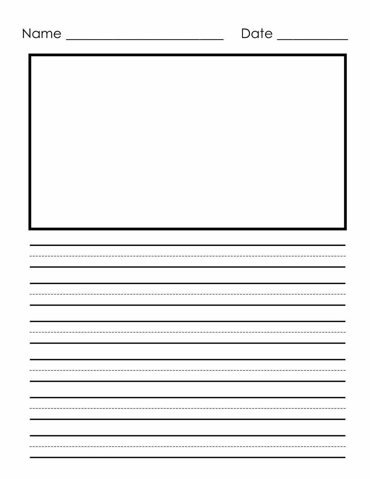 Printable Preschool Writing Paper Best Of Writing Paper Printable for Children