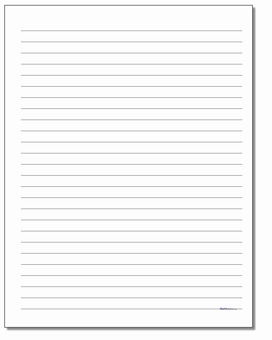 Printable Preschool Writing Paper Elegant Handwriting Paper