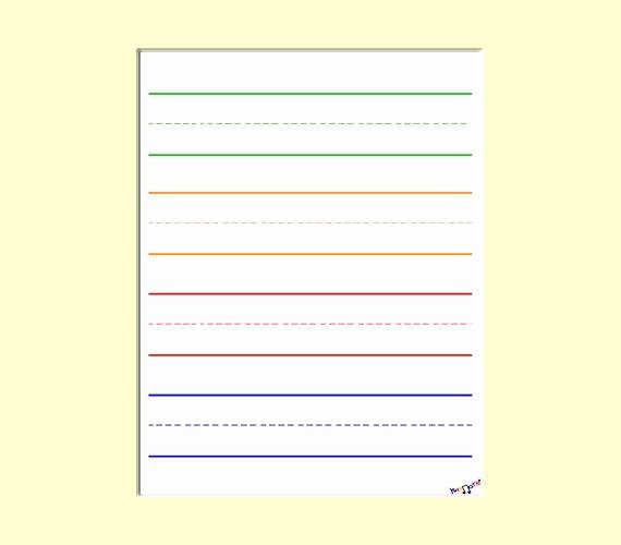 Printable Preschool Writing Paper Fresh Digital Lined Paper for Preschool Kindergarten by Kidznote