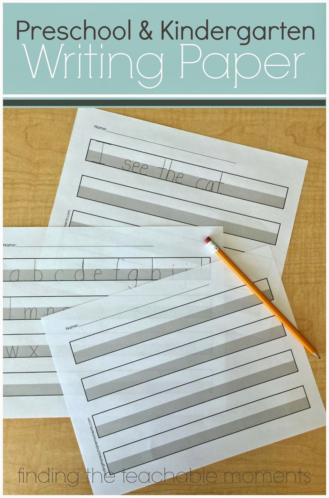 Printable Preschool Writing Paper Fresh the 25 Best Letter Size Ideas On Pinterest