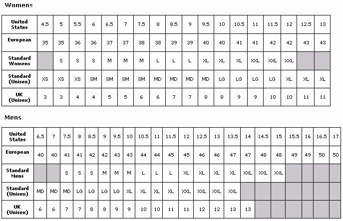 Printable Shoe Size Chart Width Beautiful European Shoe Size Chart Printable