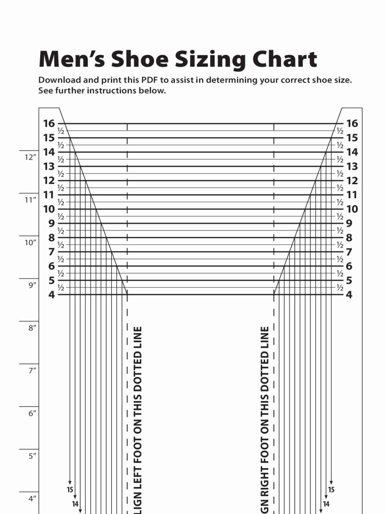 Printable Shoe Size Chart Width Beautiful Printable Shoe Chart – Jowo