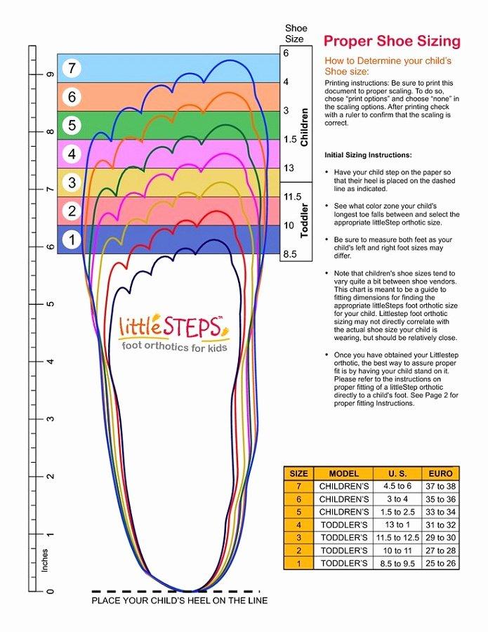 Printable Shoe Size Chart Width Elegant Printable Shoe Size Chart