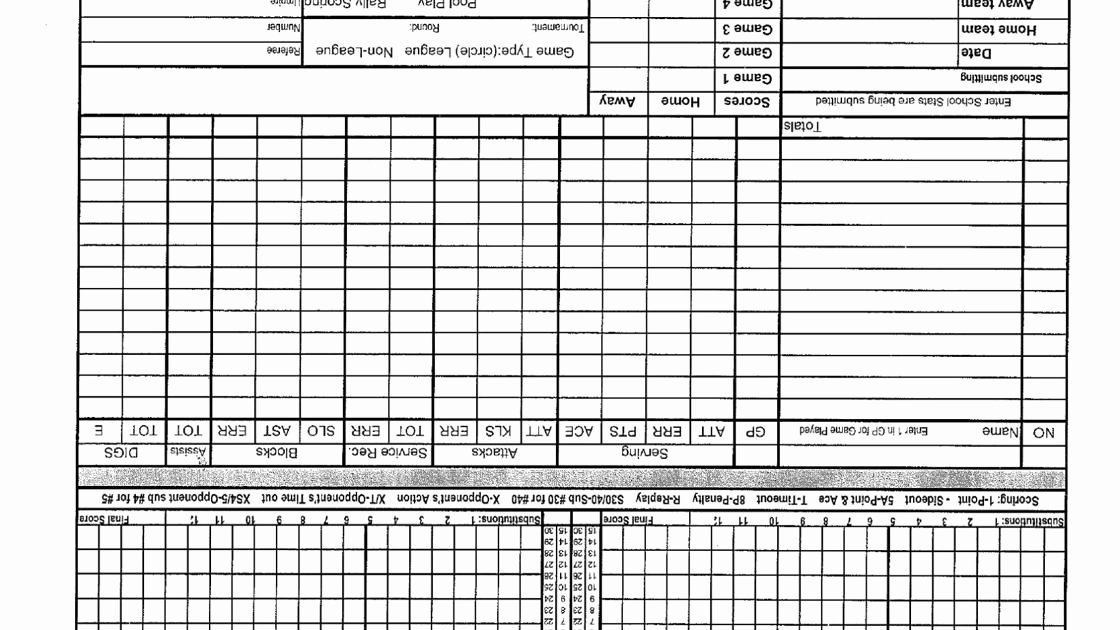 Printable soccer Stat Sheet Awesome Volleyball Stat Sheets and forms